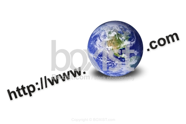 World Wide Web with Earth Globe