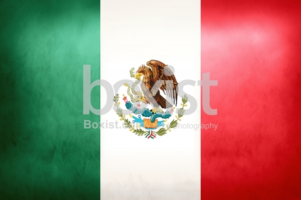 Flag of Mexico on Old Grunge Vintage Paper