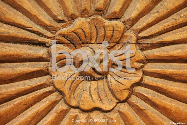 Wood Carving Flower