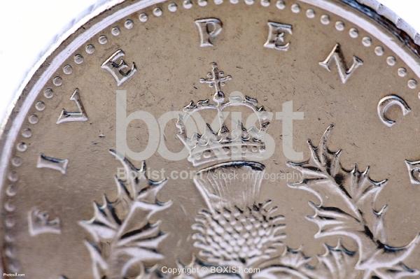 Five Pence Closeup Coin