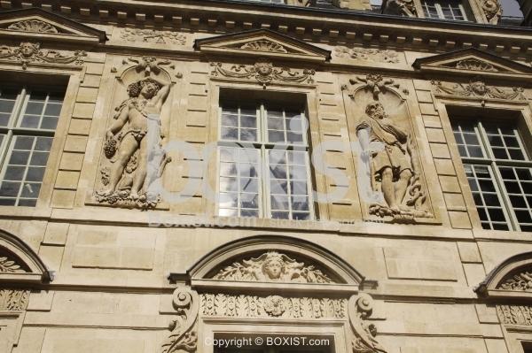 Buildings Facade with Sculptures