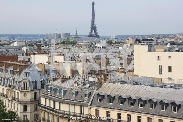 Buildings Roofs in Paris City