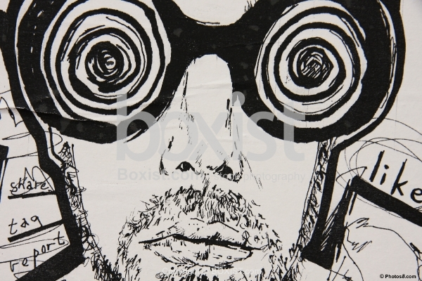 Stencil with Hypnosis Glasses