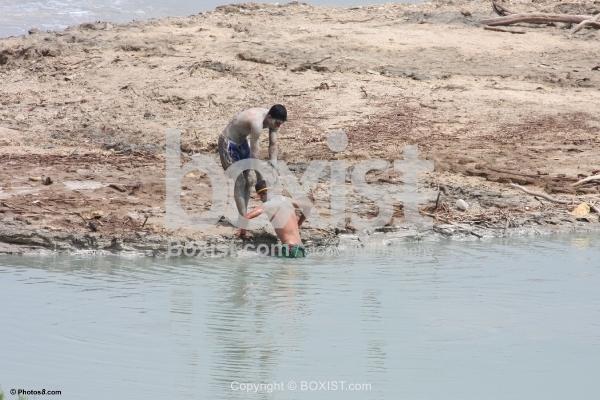 Mud Bath in the Dead Sea