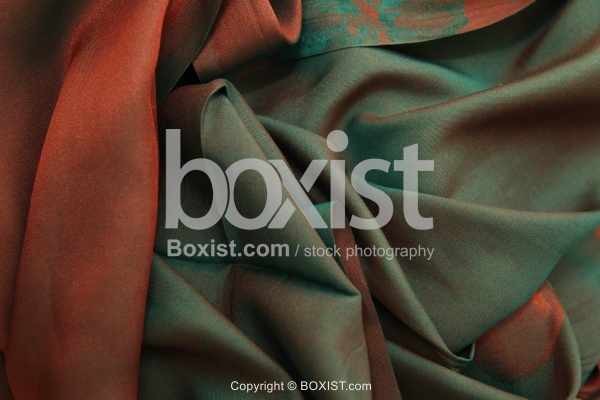 Brown and Dark Green Fabric Background