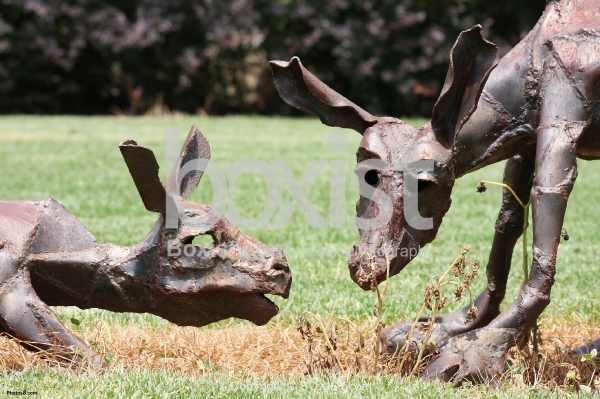 Animals Family Metal Artwork