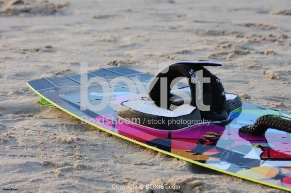 Kiteboard on the Sand