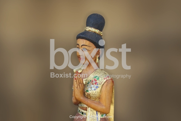 Oriental Woman Worshiper Sculpture
