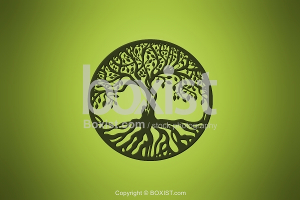 Ancient Tree of Life Symbol Design