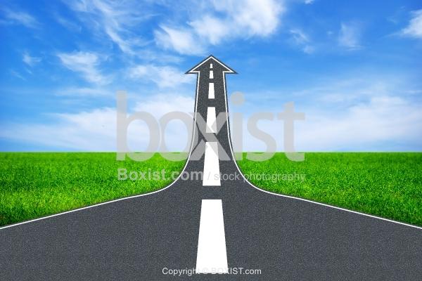 Arrow Road Through The Sky
