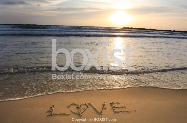 Love On Beach Sand