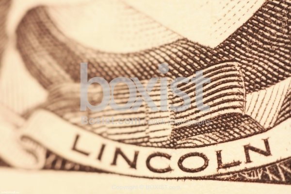 Lincoln Printed On Five Dollars
