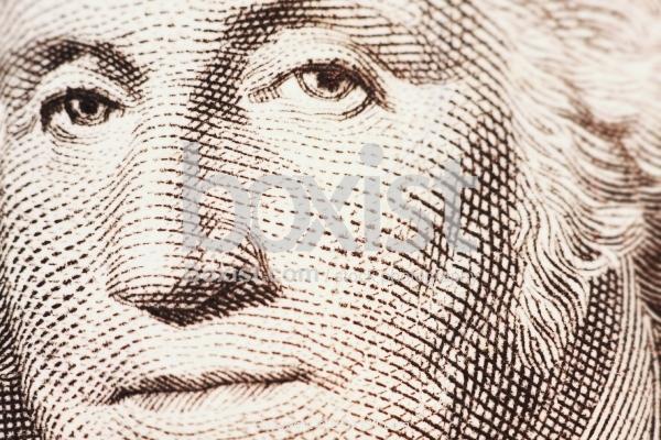 Macro Close Up Of George Washington