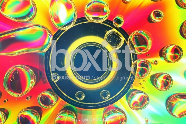 Abstract Waterdrops On CD Surface