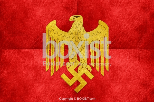 Nazi Kriegsmarine Eagle on Red Leather - Boxist com / Stock Photography