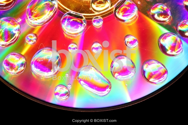 Macro Abstract Colorfull Water Drops
