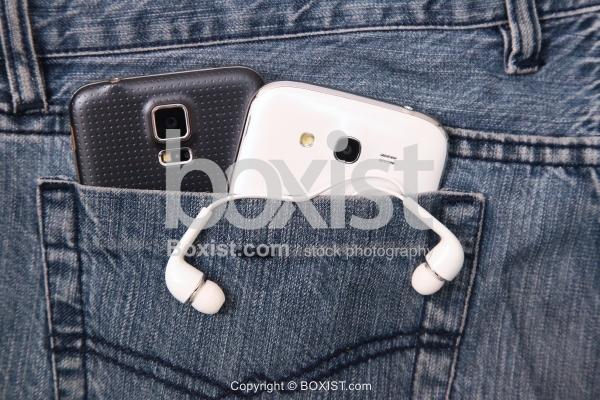 Smartphones In Jeans Pocket