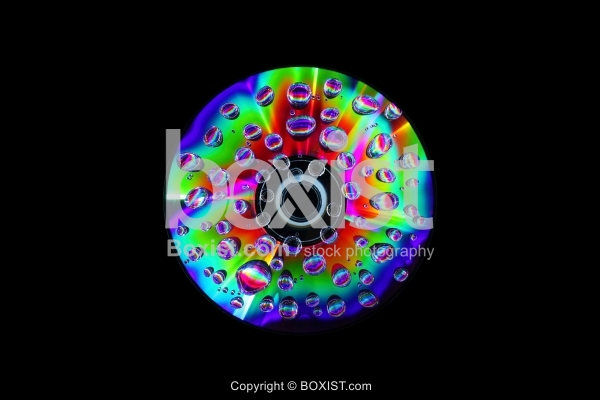 Water Droplets on CD Macro