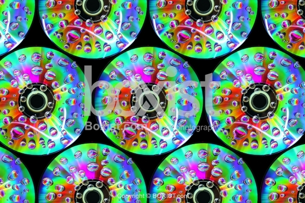 Compact Discs With Water Drops