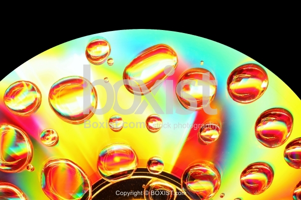Macro Water Drops On Disc Surface