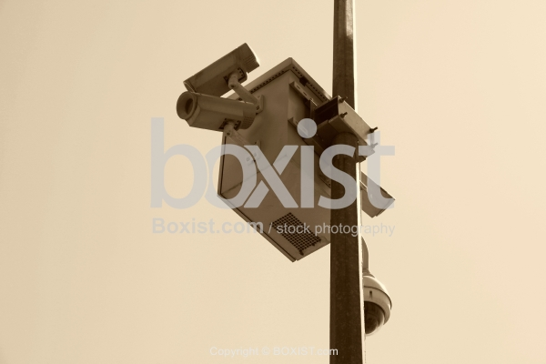 Pole with Outdoor Security Camera