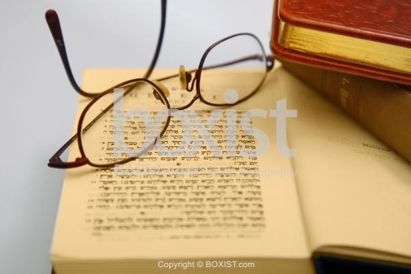 Study Glasses Over Book of Torah