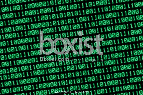 Digital Binary Numbers Background