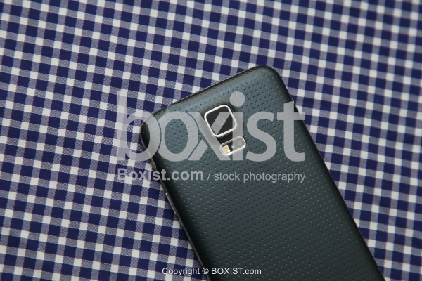 Smart Phone on Checkered Cloth