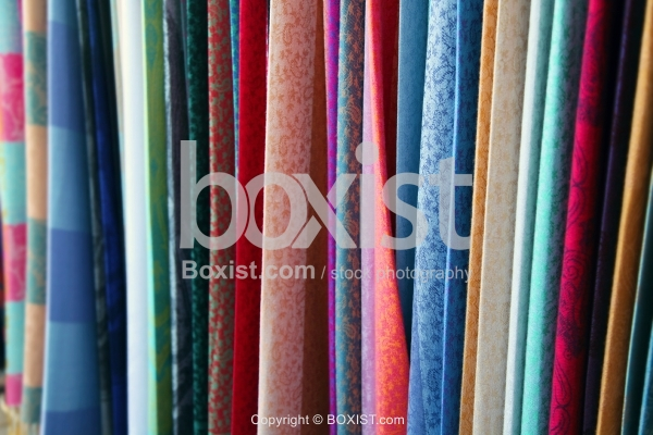 Variety Of Colored Fabrics