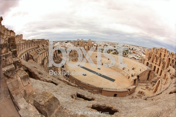 View Over The Amphitheatre in El Djem