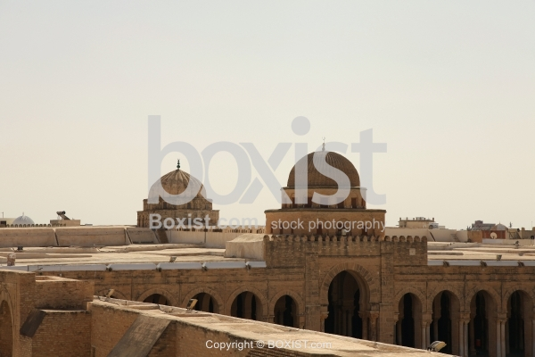 View Over the Domes of the Great Mosque of Kairouan