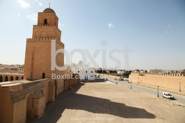 View of the Great Mosque of Kairouan from Outside
