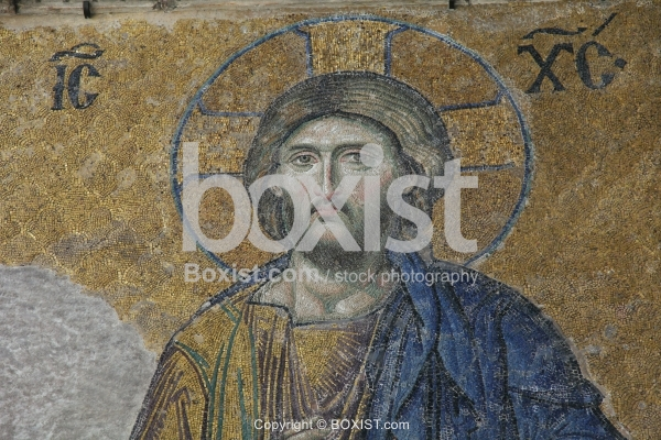 Christ in the Deesis Panel in Hagia Sophia