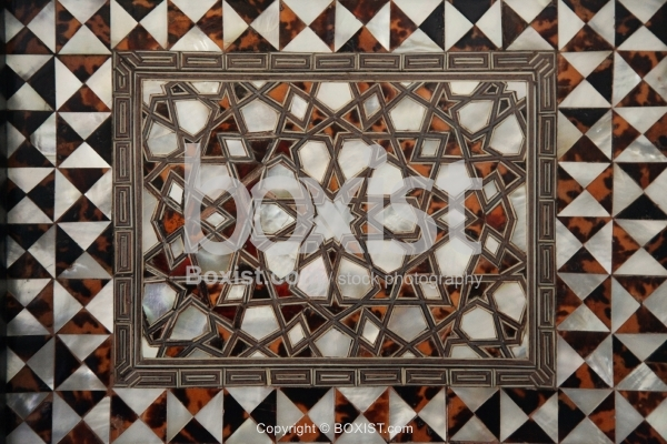 Wooden Arabesque Motif In Topkapi Palace