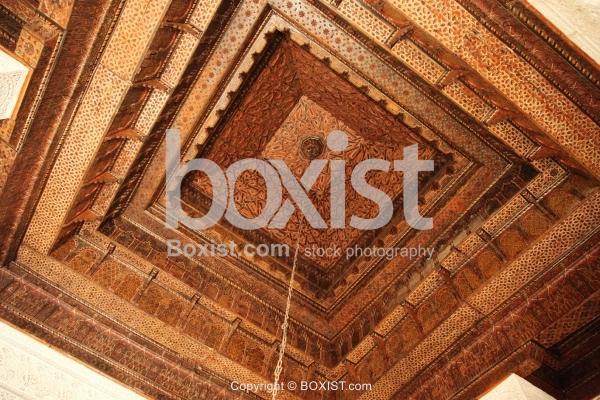 Wooden Ceiling At Sidi Abid Al Ghariani In Kairouan