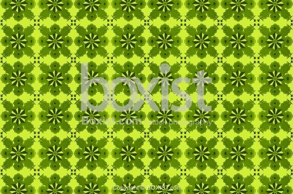 Arabesque Motif Green Patterns