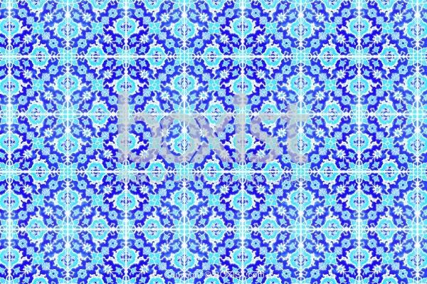 Bright Blue Iznik Tiles Background