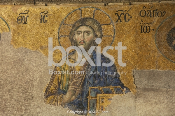 Jesus Christ the Savior Deesis in Hagia Sophia