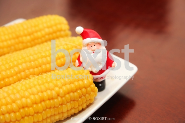 Santa Claus and Cooked Corn