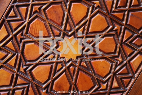 Carved Geometric Arabesque Wood