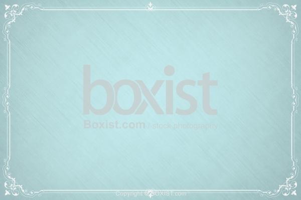 Elegant Border Frame On Bright Blue Paper