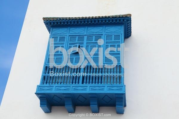 Enclosed Traditional Balcony In Tunisia