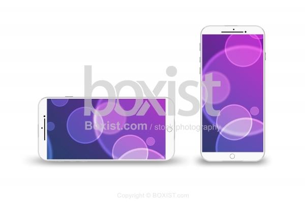 New Smartphone Mockup On White Background
