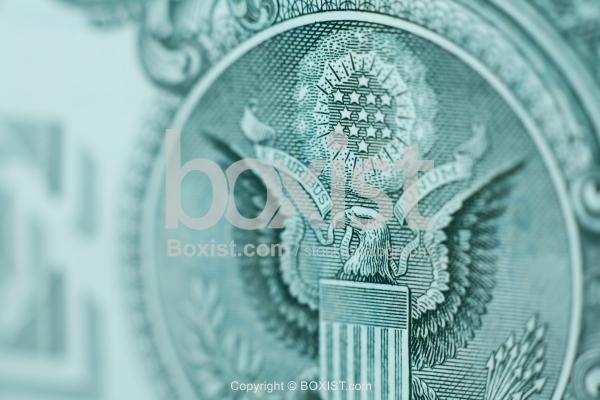 One Dollar Bill Great Seal Eagle