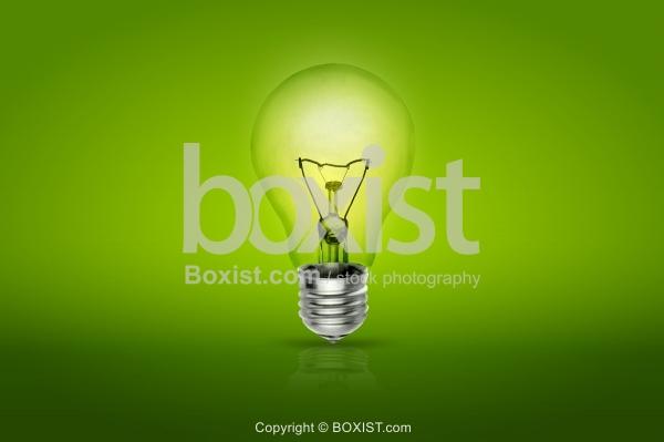 Green Bulb Light