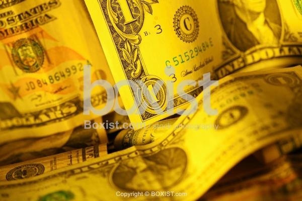 Closeup of Various Dollar Bills