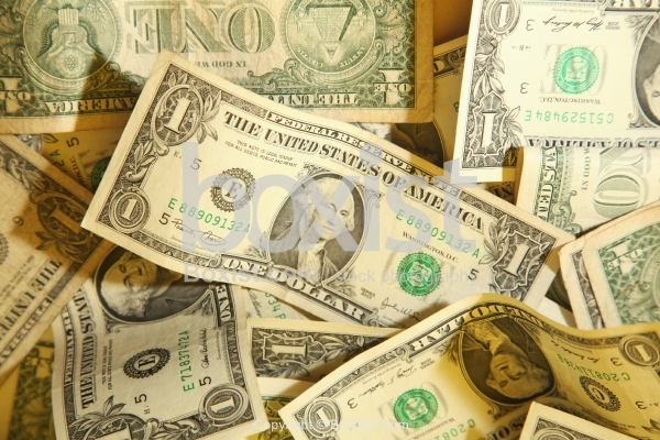 Different Series of One Dollar Banknotes Background
