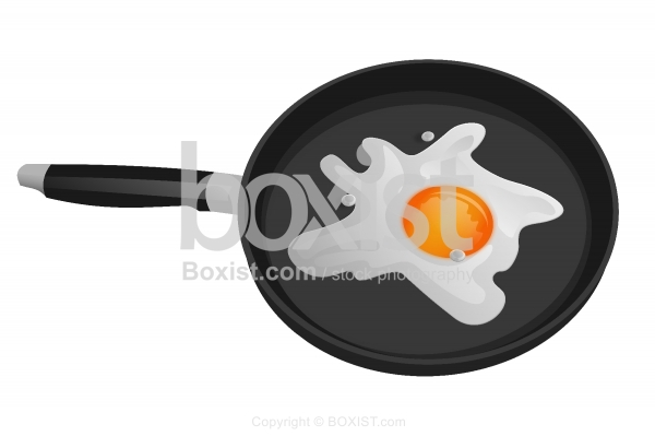 Egg In Frying Pan Clipart