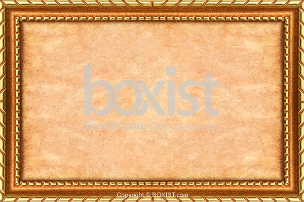 Empty Paper With Golden Border