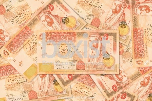 Five Jordanian Dinars Money Background